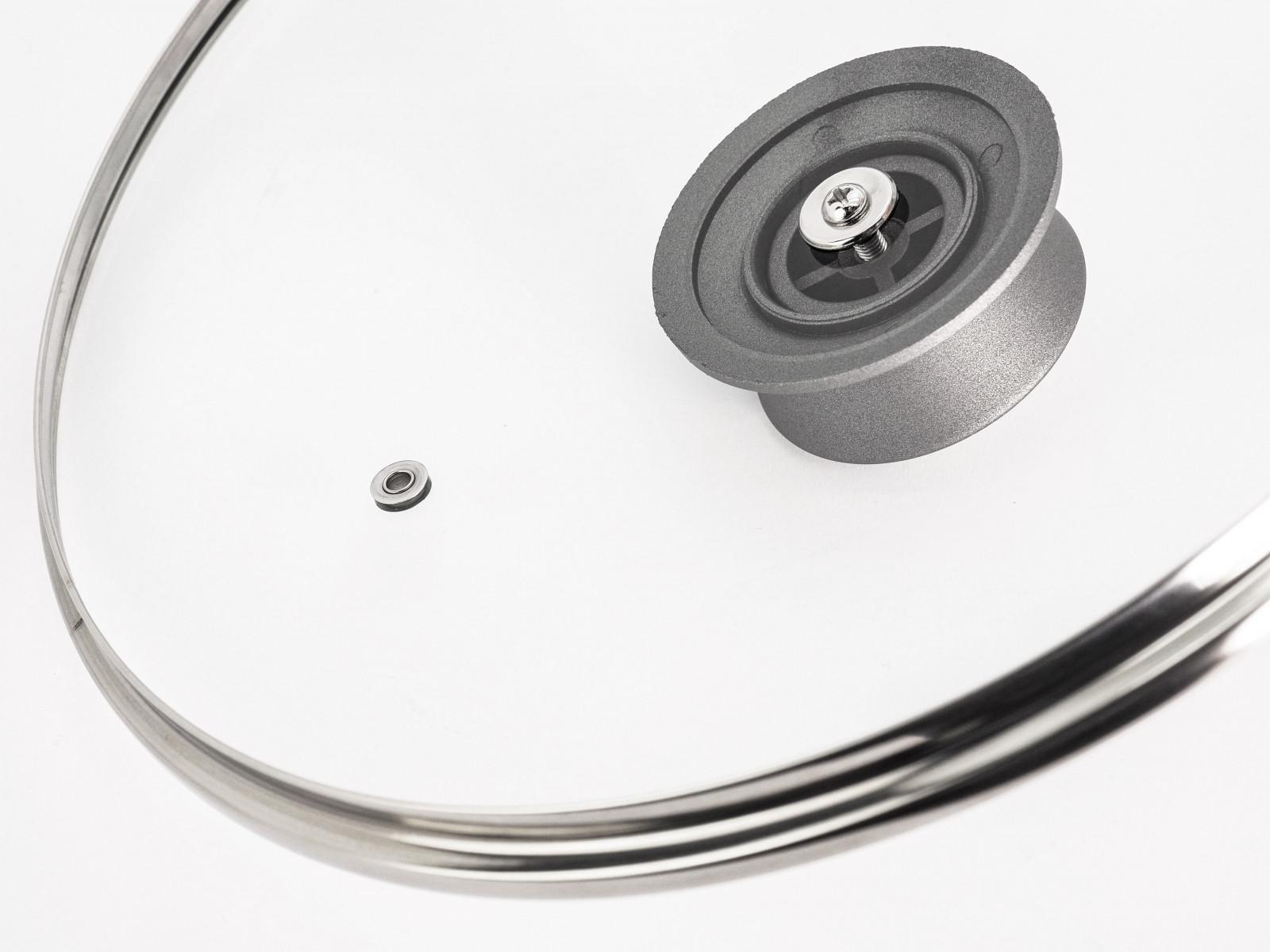 Кришка сковорідки Lessner Stone Line 88360 зроблена з термостійкого скла